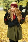 Black-czasnabuty-boots-olive-green-romwe-coat-ruby-red-iloko-hat