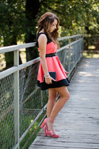 salmon Wholesale7 shoes - salmon avaro dress - black Choies bag