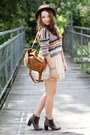 Brown-chicwish-bag-dark-brown-papilion-shoes-dark-brown-oasap-hat