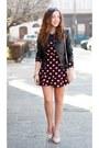 Light-pink-choies-shoes-brick-red-sheinside-dress-black-sheinside-jacket