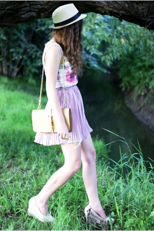 periwinkle ianywear skirt - beige OASAP bag - white Lots of clothes top