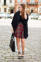 brick red PresKA skirt - black shoezsone shoes - black OASAP sweater