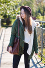 Brown-tommy-hilfiger-boots-dark-brown-oasap-hat-olive-green-sheinside-jacket