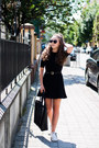 White-converse-shoes-black-zara-dress-black-medicine-bag