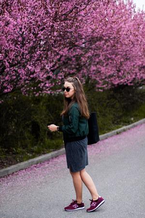 black Medicine bag - gray ADPT dress - dark green Choies jacket