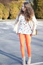beige Oh my Frock shirt - tan OASAP bag - orange romwe pants