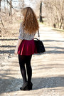 White-sh-top-black-papilion-shoes-black-sheinside-shirt-black-h-m-tights