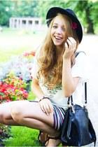 black Bershka skirt - black Czas na buty shoes - black OASAP hat