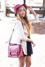 Ruby-red-new-yorker-hat-black-melissa-shoes-eggshell-romwe-jacket
