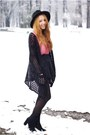 Black-h-m-shoes-black-oasap-hat-black-romwe-sweater-black-h-m-tights
