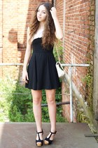 black Sheinside dress - beige ARAFEEL bag