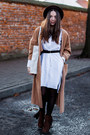 Dark-brown-lakini-boots-white-the-great-beyond-dress