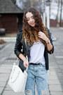 Crimson-zara-boots-light-blue-oasap-jeans-black-sheinside-jacket
