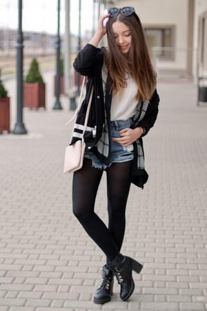 black Papilion boots - black Light in the box jacket - white Lalalilo shirt