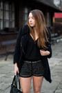 Beige-papilion-shoes-black-romwe-coat-black-super-galanteria-bag