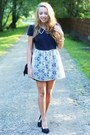 Black-romwe-bag-black-swiat-butow-impress-shoes-navy-dahlia-dress