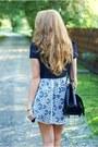 Black-romwe-bag-black-swiat-butow-impress-shoes-navy-dahlia-dress