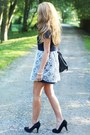 Black-swiat-butow-impress-shoes-navy-dahlia-dress-black-romwe-bag