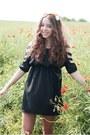Black-romwe-dress-orange-asos-accessories