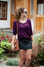 Brown-czas-na-buty-shoes-magenta-h-m-sweater-brown-oasap-bag
