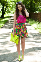 chartreuse Choies skirt - chartreuse Choies shoes