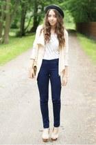 navy Vero moda Pieces pants - beige VJ-style shoes - charcoal gray romwe hat