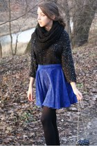 black le bunny bleu shoes - black H&M Trend sweater - black Iloko scarf