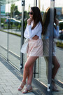White-asos-bag-light-pink-missguided-shorts-white-h-m-top