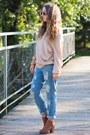 Brown-papilion-boots-sky-blue-tb-dress-jeans-light-pink-romwe-sweater