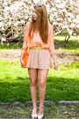 Beige-papilion-shoes-peach-livia-clue-shirt-orange-choies-bag