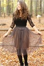 Felicee-skirt-c-a-tights-cutesy-shoes-wedges-new-yorker-blouse