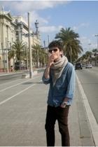 scarf - H&M shirt - Zara jeans - ray-ban sunglasses