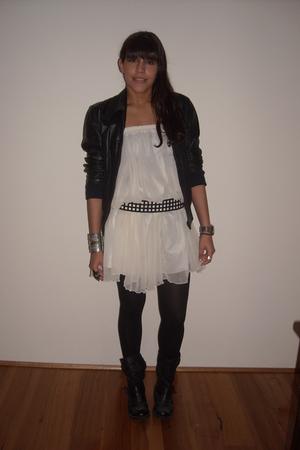 vintage jacket - vintage skirt - Forever New belt - asos boots