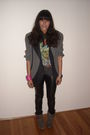 Gray-vintage-blazer-black-bershka-leggings-gray-t-shirt-gray-the-cassette-