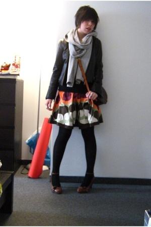 danier jacket - pieces accessories - Smart Set sweater - Vero Moda dress