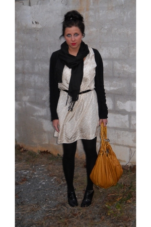 black Gap cardigan - beige Old Navy dress - black Nine West shoes - brown Urban