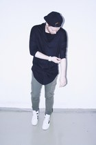 black Colloseum hat - dark khaki Tally Weijl pants - black I made it myself top
