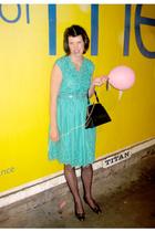 Beyond Retro dress - Absolute Vintage shoes - Primark tights - Thrift Store belt