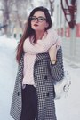 Black-houndstooth-persunmall-coat-light-pink-wool-bershka-sweater