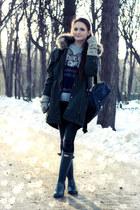 charcoal gray wool Rosewholesale jumper - charcoal gray rain Hunter boots