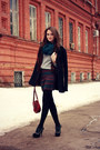 Black-wool-ostin-coat-silver-wool-unknown-sweater
