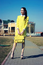 yellow cotton PERSUNMALL dress - yellow satchel Accessorize bag