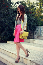 bubble gum kira plastinina skirt - light yellow Accessorize bag