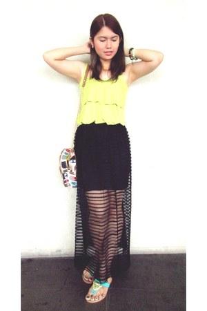 boho bought online top - sheer sm department store skirt