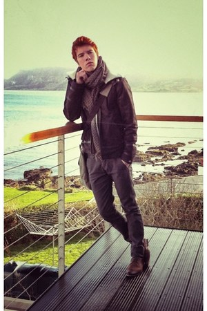 aviator il2l coat - Zara scarf