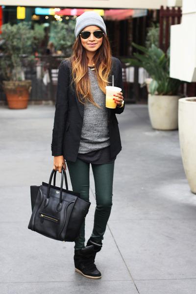 leather bag - glasses