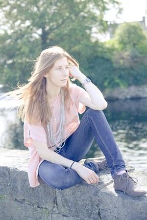 pink Topshop shirt