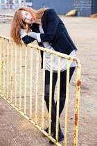 black new look jacket - black Vero Moda leggings - heather gray H&M shirt