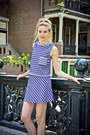 Blue-a-line-mauro-grifoni-top-blue-plaid-mauro-grifoni-skirt