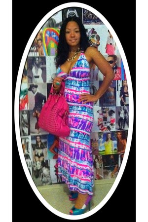 multi colored joe boxer dress - Dane Simms pumps